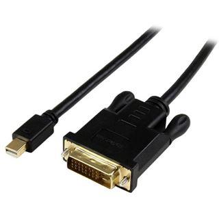 (€41,00*/1m) 0.90m Startech Adapterkabel aktiv DVI 24+1 Stecker auf Mini Displayport Buchse Schwarz vergoldet
