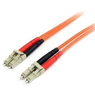 (€12,90*/1m) 1.00m Startech LWL Duplex Patchkabel 62,5/125 µm OM1 LC Stecker auf LC Stecker Orange