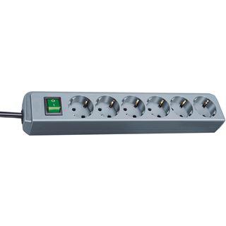 (€5,93*/1m) 1.50m Brennenstuhl Eco-Line Steckdosenleiste mit Schalter Grau 6 (1159540015)