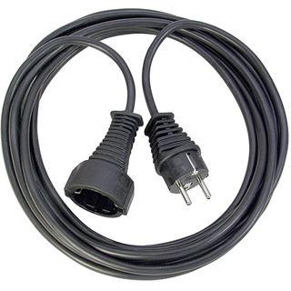 (€2,30*/1m) 3.00m Brennenstuhl Verlängerungskabel Schutzkontakt Stecker auf Schutzkontakt Buchse Schwarz IP20