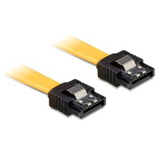 (€13,00*/1m) 0.30m Delock SATA 6Gb/s Anschlusskabel SATA Stecker auf SATA Stecker Gelb