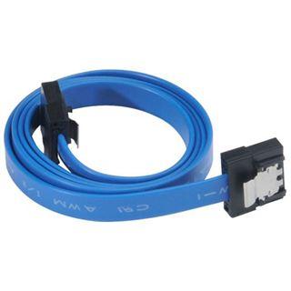 (€13,80*/1m) 0.50m Akasa SATA 6Gb/s Anschlusskabel SATA Stecker auf SATA Stecker Blau Slim