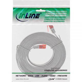 (€1,63*/1m) 3.00m InLine Cat. 6 Patchkabel flach U/UTP RJ45 Stecker auf RJ45 Stecker Grau