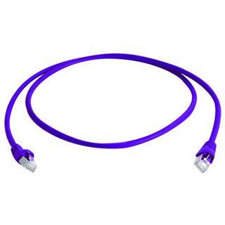 (€1,39*/1m) 10.00m Telegärtner Cat. 6a Patchkabel S/FTP PiMF RJ45 Stecker auf RJ45 Stecker Violett halogenfrei