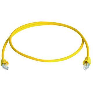 (€1,20*/1m) 20.00m Telegärtner Cat. 6a Patchkabel S/FTP PiMF RJ45 Stecker auf RJ45 Stecker Gelb halogenfrei