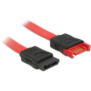 0.50m Delock SATA 6Gb/s Anschlusskabel SATA Stecker auf SATA Buchse Rot/Schwarz