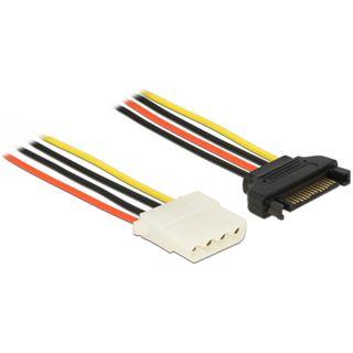 (€7,80*/1m) 0.50m Delock Stromkabel Adapterkabel SATA Strom Buchse auf Molex-Buchse Schwarz/Rot/Gelb