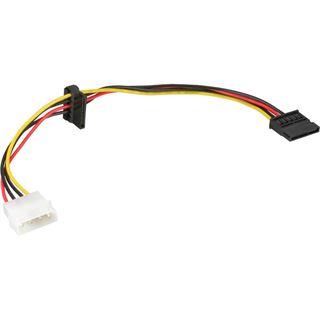 (€32,67*/1m) 0.15m InLine SATA Adapterkabel Molex-Stecker auf 2xSATA Strom Stecker Schwarz