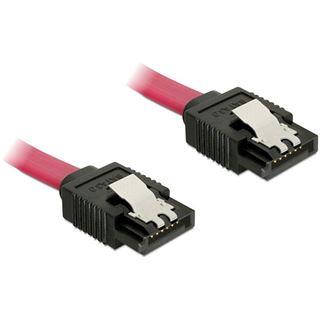 (€13,00*/1m) 0.30m Delock SATA 6Gb/s Anschlusskabel SATA Stecker auf SATA Stecker Rot
