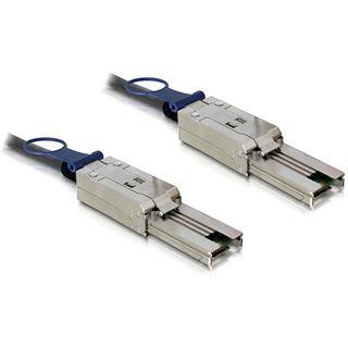 (€44,90*/1m) 1.00m Delock SAS Anschlusskabel SFF-8088 Stecker auf SFF-8088 Stecker Schwarz