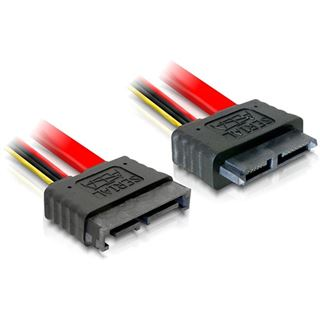 0.50m Delock SATA 6Gb/s Verlängerungskabel SATA Stecker auf SATA Stecker Schwarz/Rot/Gelb Slim