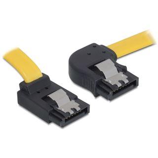 (€13,00*/1m) 0.30m Delock SATA 3Gb/s Anschlusskabel gewinkelt SATA Stecker auf SATA Stecker Gelb Metall