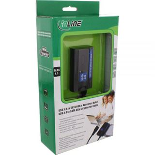 InLine USB 3.0 zu SATA 6Gb/s Konverter Kabel 1,8m mit Netzteil