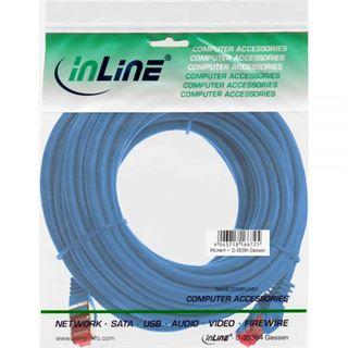 (€0,56*/1m) 50.00m InLine Cat. 6 Patchkabel S/FTP PiMF RJ45 Stecker auf RJ45 Stecker Blau PVC