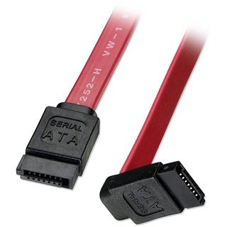 (€24,50*/1m) 0.20m Lindy SATA 3Gb/s Anschlusskabel gewinkelt SATA Stecker auf SATA Stecker Rot