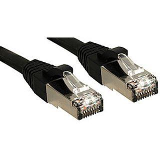 (€4,45*/1m) 2.00m Lindy Cat. 6 Patchkabel S/FTP PiMF RJ45 Stecker auf RJ45 Stecker Schwarz halogenfrei
