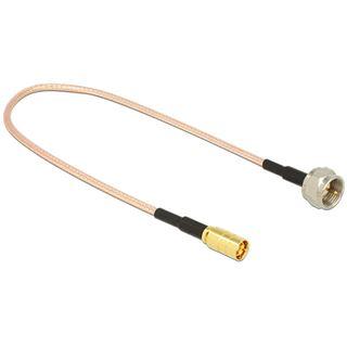 (€39,60*/1m) 0.25m Delock WLAN Antennenkabel F Stecker auf SMB Buchse Transparent