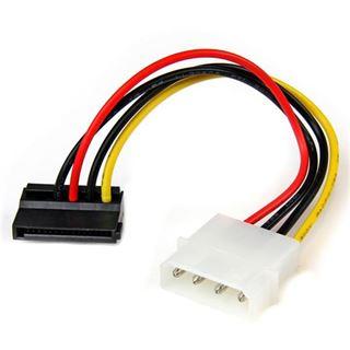 (€32,67*/1m) 0.15m Startech SATA Adapterkabel gewinkelt oben Molex-Stecker auf SATA Strom Stecker Schwarz