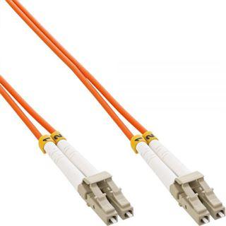 (€8,90*/1m) 1.00m InLine LWL Duplex Patchkabel 50/125 µm OM2 LC Stecker auf LC Stecker Violett