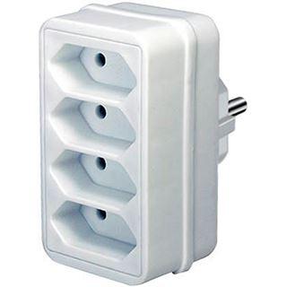 Brennenstuhl Adapterstecker Euro 4 4fach weiß
