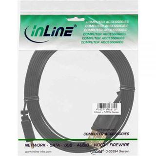(€7,80*/1m) 0.50m InLine USB2.0 Anschlusskabel USB A Stecker auf USB mikroB Stecker Schwarz flach