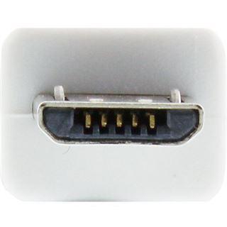 5.00m InLine USB2.0 Anschlusskabel USB A Stecker auf USB mikroB Stecker Weiß