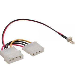 (€492,67*/1m) 0.15m InLine Lüfter Adapterkabel Molex-Stecker auf 3pol Stecker Schwarz/Rot/Gelb 100 Stueck