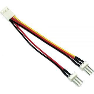(€659,00*/1m) 0.10m InLine Lüfter Y-Stromadapterkabel 3pol Buchse auf 2x3pol Stecker Schwarz/Rot/Gelb 100 Stueck
