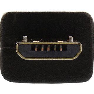 (€4,90*/1m) 1.00m InLine USB2.0 Anschlusskabel USB A Stecker auf USB mikroB Stecker Schwarz vergoldet
