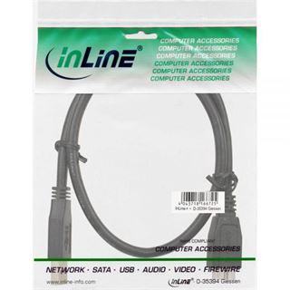 (€13,80*/1m) 0.50m InLine USB3.0 Anschlusskabel USB A Stecker auf USB mikroB Stecker Schwarz