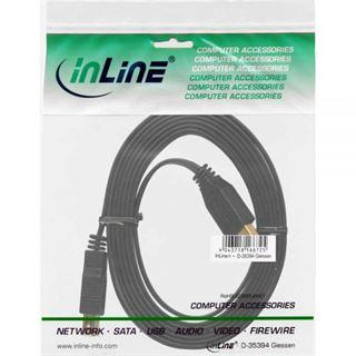(€6,90*/1m) 1.00m InLine USB3.0 Verlängerungskabel USB A Stecker auf USB A Buchse Schwarz flach