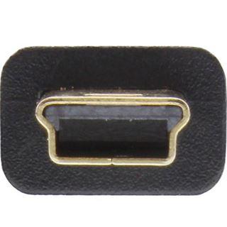 (€4,90*/1m) 1.00m InLine USB2.0 Anschlusskabel USB A Stecker auf USB miniB Stecker Schwarz vergoldet