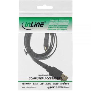 (€7,90*/1m) 1.00m InLine USB3.0 Anschlusskabel USB A Stecker auf USB mikroB Stecker Schwarz