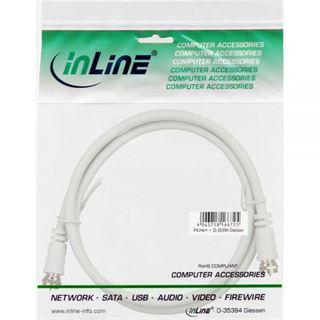 (€1,95*/1m) 2.00m InLine SAT Anschlusskabel F Stecker auf F Stecker Weiß 75dB