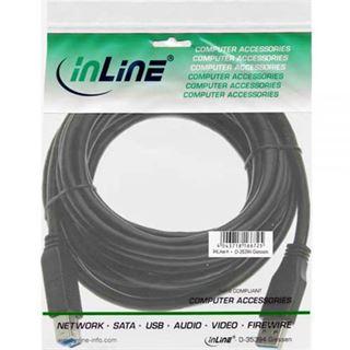 (€1,98*/1m) 5.00m InLine USB3.0 Anschlusskabel USB 3.0 USB A Stecker auf USB mikroB Stecker Schwarz