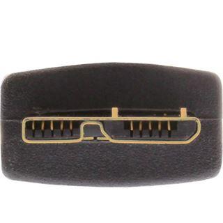 (€5,27*/1m) 1.50m InLine USB3.0 Anschlusskabel USB A Stecker auf USB mikroB Stecker Schwarz flach