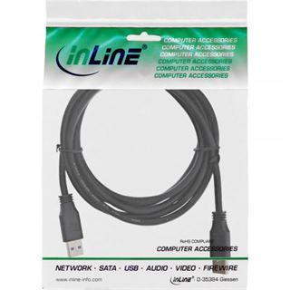 2.00m InLine USB3.0 Anschlusskabel USB 3.0 USB A Stecker auf USB A Stecker Schwarz