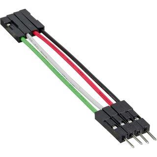 0.50m InLine USB2.0 Verlängerungskabel USB Pfostenstecker 4pol auf USB Pfostenbuchse 4pol Schwarz