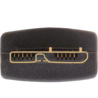 (€15,80*/1m) 0.50m InLine USB3.0 Anschlusskabel USB A Stecker auf USB A Buchse Schwarz flach