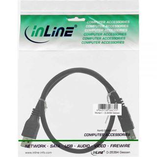 (€2,76*/1m) 2.50m InLine USB3.0 Anschlusskabel USB 3.0 USB A Stecker auf USB B Stecker Schwarz