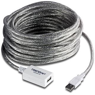(€1,49*/1m) 12.00m Trendnet USB2.0 Verlängerungskabel aktiv USB A Stecker auf USB A Buchse Transparent