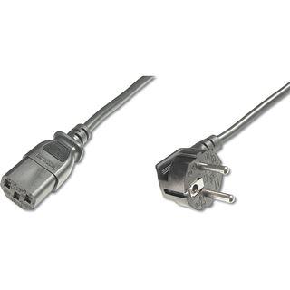 (€2,72*/1m) 1.80m Digitus Stromkabel Anschlusskabel gewinkelt Schutzkontakt Stecker auf Kaltgeräte Buchse C13 Schwarz