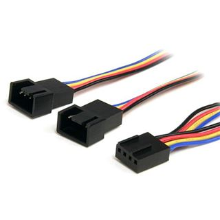 (€26,33*/1m) 0.30m Startech Lüfter Y-Stromadapterkabel 4pol Buchse auf 2x4pol Stecker Schwarz