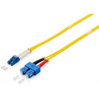 (€8,90*/1m) 1.00m Equip LWL Duplex Patchkabel 9/125 µm OS2 LC Stecker auf SC Stecker Gelb