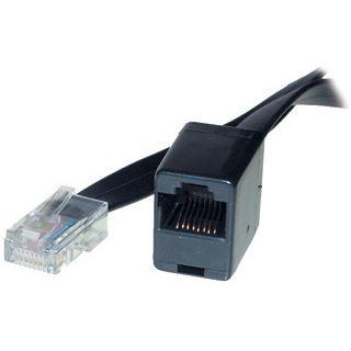 3.00m Good Connections ISDN Verlängerungskabel RJ45 Stecker auf RJ45 Buchse Schwarz