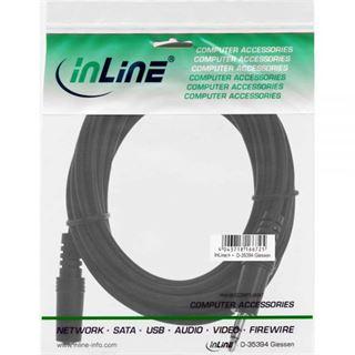 (€2,60*/1m) 1.50m InLine Audio Verlängerungskabel 3.5mm Klinken-Stecker auf 3.5mm Klinken-Buchse Schwarz