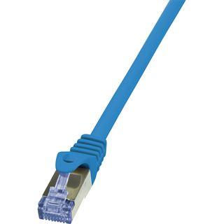 (€3,27*/1m) 1.50m LogiLink Cat. 6a Patchkabel S/FTP PiMF RJ45 Stecker auf RJ45 Stecker Blau AWG26