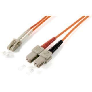 (€1,98*/1m) 5.00m Equip LWL Duplex Patchkabel 50/125 µm OM2 LC Stecker auf SC Stecker Orange