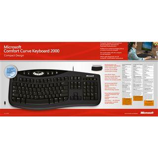 Microsoft 2000 Comfort Curve Tastatur Schwarz Deutsch USB