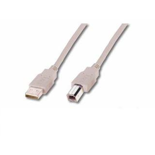 (€2,17*/1m) 1.80m ASSMANN Electronic GmbH USB2.0 Anschlusskabel USB A Stecker auf USB B Stecker beige doppelt geschirmt / Polybag